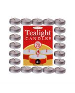 Pk 20 4 hour tea light candles