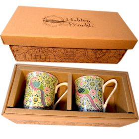 2 Hidden World Udai Palace Celeste bone china mugs