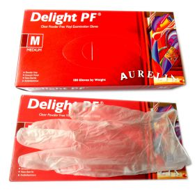 100pk vinyl powder-free medium gloves