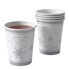 Neviti Shimmering Snowflake Pack of 8 Cups