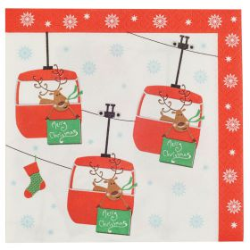 Neviti Festive Xmas Fun Pack of 20 Cocktail Napkins