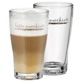 Pair of 265cl WMF Barista Latte Glasses