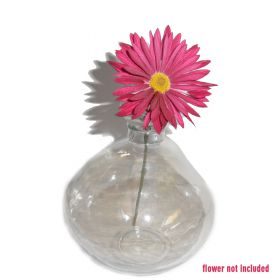 Small clear glass bud vase
