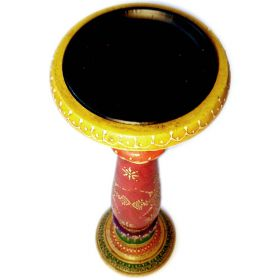 Large hand-painted Indian candlestick