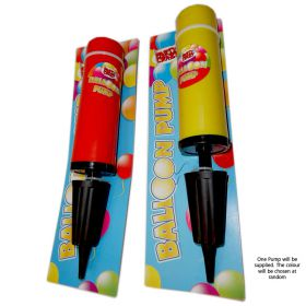 Party crazy balloon pump red yellow & black
