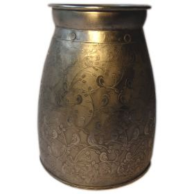 15cm hand-decorated iron vase