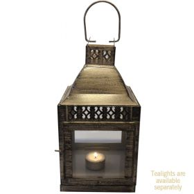 Large antique white iron lantern