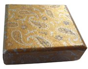 Gold paisley pattern jewellery box